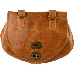 Torebki klasyczne damskie: Skórzana torebka w kolorze jasnobrązowym – 29 x 19 x 13 cm