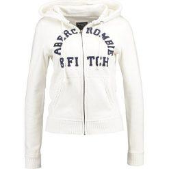 Abercrombie & Fitch HOLIDAY LOGO Bluza rozpinana off white. Białe bluzy rozpinane damskie Abercrombie & Fitch, xs, z bawełny. Za 349,00 zł.