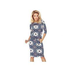 Sukienki: SUKIENKA SPORTOWA CASUAL GRANATOWA FOLK