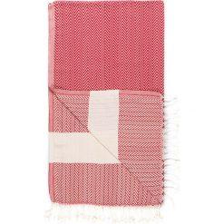 Chusta hammam w kolorze czerwono-białym - 180 x 95 cm. Czarne chusty damskie marki Hamamtowels, z bawełny. W wyprzedaży za 43,95 zł.