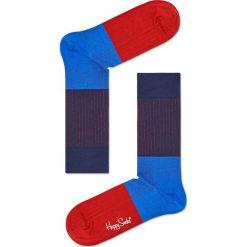 Happy Socks - Skarpety Rib. Czerwone skarpetki męskie Happy Socks, z bawełny. W wyprzedaży za 29,90 zł.