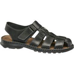 Sandały męskie Claudio Conti czarne. Czarne sandały męskie skórzane Claudio Conti, z paskami. Za 159,90 zł.