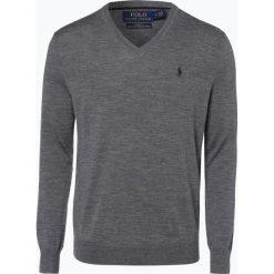 Polo Ralph Lauren - Męski sweter z wełny merino – Slim Fit, szary. Szare swetry klasyczne męskie Polo Ralph Lauren, m, z dzianiny, polo. Za 659,95 zł.