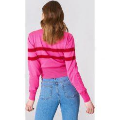 Swetry klasyczne damskie: Trendyol Sweter z podwójnym paskiem - Pink