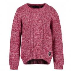 Blue Seven Sweter Z Dzianiny Dziewczęcy 110 Biały/Czerwony. Czerwone swetry dziewczęce marki bonprix, z okrągłym kołnierzem. Za 69,00 zł.
