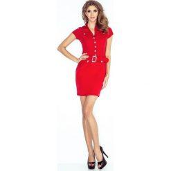 Paris Sukienka szmizjerka z guzikami - CZERWONA. Różowe sukienki na komunię marki numoco, l, z długim rękawem, maxi, oversize. Za 169,00 zł.