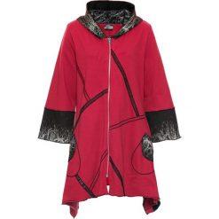 Bluza rozpinana bonprix czerwono-kolorowy. Czerwone bluzy rozpinane damskie bonprix, w kolorowe wzory, z długim rękawem, długie. Za 149,99 zł.
