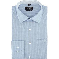 Koszula bexley 2746 długi rękaw slim fit niebieski. Niebieskie koszule męskie slim Recman, m, z długim rękawem. Za 149,00 zł.