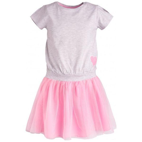 3a00251785d756 Sukienka z tiulowym dołem dla dziewczynki 9-13 lat - Szare sukienki ...