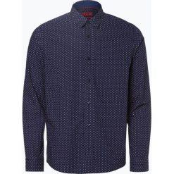 HUGO - Koszula męska – Evory, niebieski. Niebieskie koszule męskie na spinki marki HUGO, m, z bawełny. Za 429,95 zł.