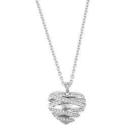 Naszyjniki damskie: Naszyjnik w kolorze srebrnym z zawieszką – (D)81 cm