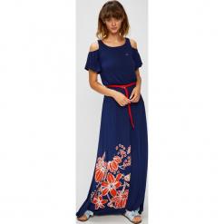 U.S. Polo - Sukienka. Szare sukienki U.S. Polo, na co dzień, l, z nadrukiem, z dzianiny, casualowe, z okrągłym kołnierzem, z krótkim rękawem, maxi, proste. W wyprzedaży za 599,90 zł.