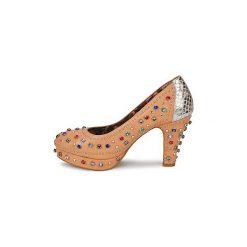 Czółenka Miss L'Fire  SHOWGIRL. Brązowe buty ślubne damskie Miss L'Fire. Za 608,30 zł.