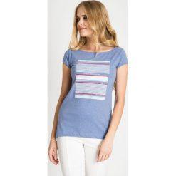Bluzki damskie: Niebieska bluzka z printem QUIOSQUE