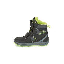 Śniegowce Dziecko Kangaroos  ROCKIL. Czarne buty zimowe chłopięce KangaROOS. Za 295,20 zł.