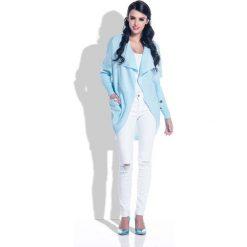 Swetry damskie: Błękitny Oversizowy Wygodny Kardigan