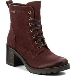 Botki LASOCKI - 4381-05 Bordowy. Czerwone buty zimowe damskie Lasocki, z nubiku, na obcasie. Za 279,99 zł.