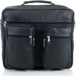 Skórzana torba męska na ramię i do ręki ANTON. Czarne torby na ramię męskie Abruzzo, w paski, ze skóry, do ręki. Za 159,90 zł.