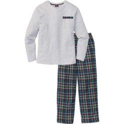 Piżama bonprix jasnoszary melanż w kratę. Szare piżamy męskie marki bonprix, m, melanż. Za 74,99 zł.