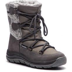 Śniegowce MANITU - 991265 Grau 9. Szare buty zimowe damskie Manitu, z materiału. Za 369,00 zł.