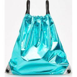 Plecaki damskie: Błyszczący plecak worek - Zielony