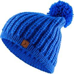 Czapka damska CAD615 - kobalt - Outhorn. Niebieskie czapki zimowe damskie Outhorn, na jesień, ze splotem. Za 34,99 zł.