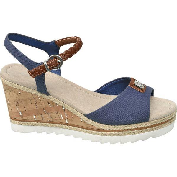 373dd2d8af9cb9 sandały na koturnie Graceland niebieskie - Niebieskie sandały ...