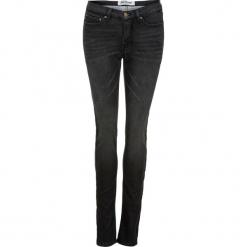 Dżinsy dresowe ocieplane STRAIGHT bonprix czarny. Czarne spodnie dresowe damskie marki KIPSTA, l, z bawełny, na fitness i siłownię. Za 149,99 zł.