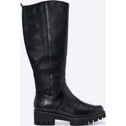 Marco Tozzi - Kozaki. Czarne buty zimowe damskie marki Asics. W wyprzedaży za 299,90 zł.