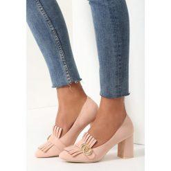 Buty ślubne damskie: Różowe Czółenka Argyle