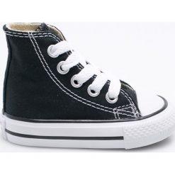 Converse - Trampki dziecięce. Szare buty sportowe dziewczęce Converse, z gumy, z okrągłym noskiem, na sznurówki. W wyprzedaży za 169,90 zł.