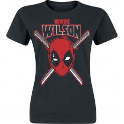 Deadpool Wade Wilson Koszulka damska czarny. Czarne bluzki damskie Deadpool, xl. Za 54,90 zł.