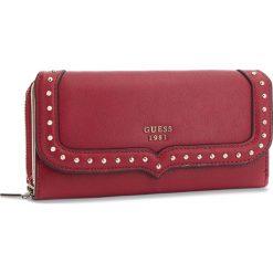 Duży Portfel Damski GUESS - SWVG71 05620 RED. Niebieskie portfele damskie marki Guess, z materiału. Za 279,00 zł.