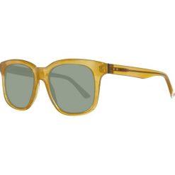 Okulary przeciwsłoneczne męskie: Okulary męskie w kolorze jasnobrązowo-zielonym