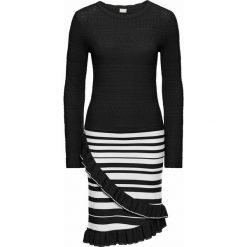 Sukienki: Sukienka bonprix czarno-biały