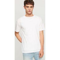 T-shirty męskie: Bawełniany t-shirt – Biały