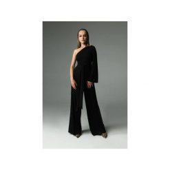 KOMBINEZON NIGHTY-NIGHT - CZARNY. Czarne kombinezony eleganckie Madnezz, m, z aplikacjami, z bawełny, z długim rękawem, długie. Za 320,00 zł.
