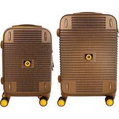 Zestaw walizek Bahamas 20/24 Mała/Średnia. Brązowe walizki marki VIP COLLECTION, małe. Za 1240,08 zł.