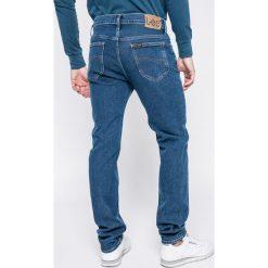 Lee - Jeansy Rider. Niebieskie jeansy męskie slim Lee, z bawełny. W wyprzedaży za 219,90 zł.
