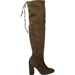 Kozaki - 2623 CAM BR93. Brązowe buty zimowe damskie marki Kazar, ze skóry, przed kolano, na wysokim obcasie. Za 259,00 zł.