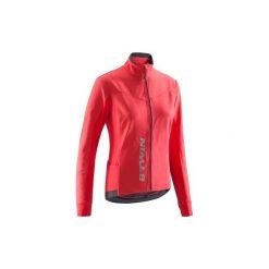 Kurtka na rower szosowy 500 damska. Czerwone kurtki damskie marki TRIBORD, z materiału. Za 139,99 zł.