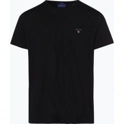 Gant - T-shirt męski, czarny. Czarne t-shirty męskie marki GANT, l, z haftami, z bawełny. Za 129,95 zł.