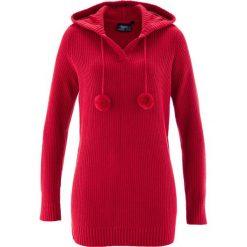 Długi sweter z kapturem bonprix czerwony. Szare swetry klasyczne damskie marki Reserved, m, z kapturem. Za 49,99 zł.