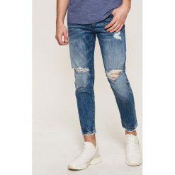 Jeansy męskie: Jeansy typu cropped – Niebieski