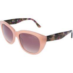"""Okulary przeciwsłoneczne damskie: Okulary przeciwsłoneczne """"GU7477"""" w kolorze jasnoróżowym ze wzorem"""