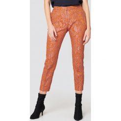 Spodnie z wysokim stanem: Samsoe & Samsoe Spodnie Cybill – Orange,Multicolor