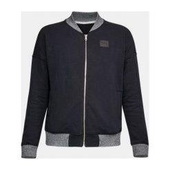 Bluzy sportowe damskie: Under Armour Bluza damska Threadborne Fleece Bomber czarna r. S  (1298590-001)