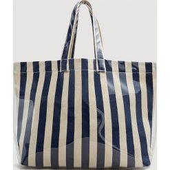 Shopper bag damskie: Mango – Torebka Stripe