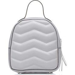 Plecaki damskie: Szara Stylowy i Praktyczny Plecak z Pikowaniem