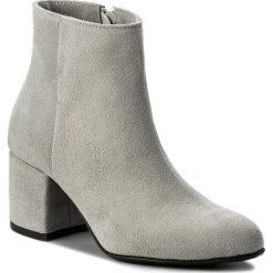 Botki R.POLAŃSKI - 0882 Szary Zamsz. Czarne buty zimowe damskie marki R.Polański, ze skóry, na obcasie. W wyprzedaży za 249,00 zł.